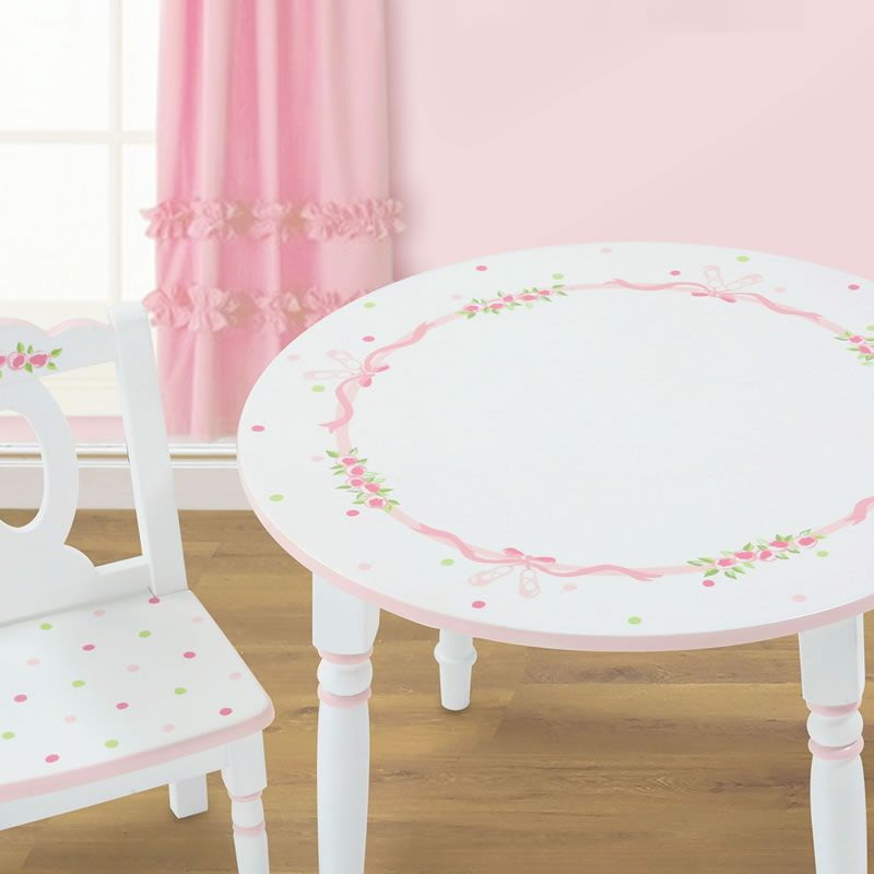 Handpainted Table Chairs For Little Girls
