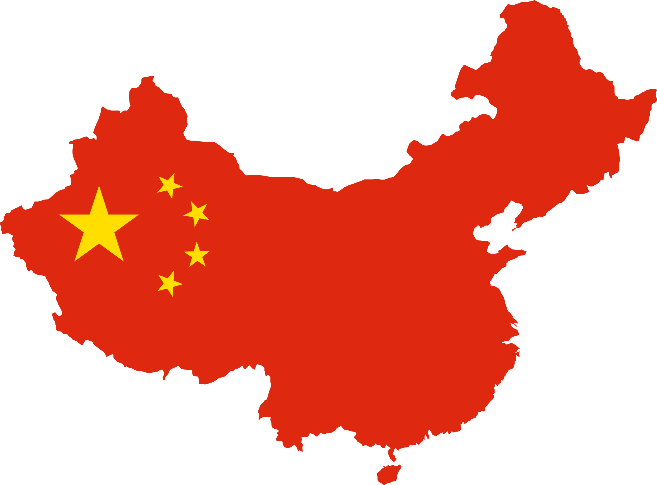 Clipart   China Map Flag | China in 2019 | China map, Flag
