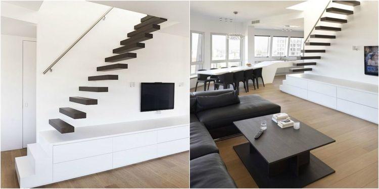 am nagement sous escalier id es pour utiliser au mieux l espace meuble tv bas escalier. Black Bedroom Furniture Sets. Home Design Ideas