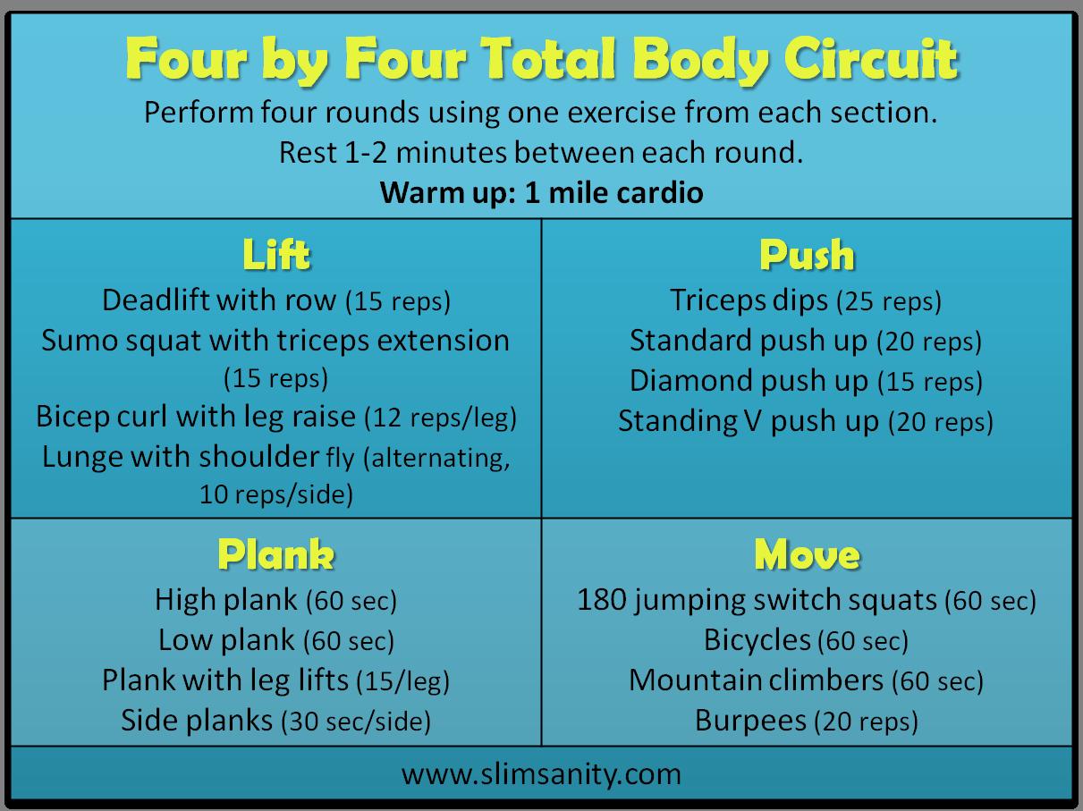 Full Body Circuit, Circuit