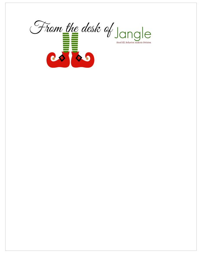 Free Printable Letters From Santa  His Elves  Printable Letters