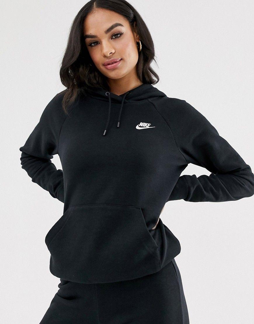 Nike Black Essentials Hoodie Modesens Black Nike Hoodie Nike Hoodie Outfit Black Nikes [ 1110 x 870 Pixel ]