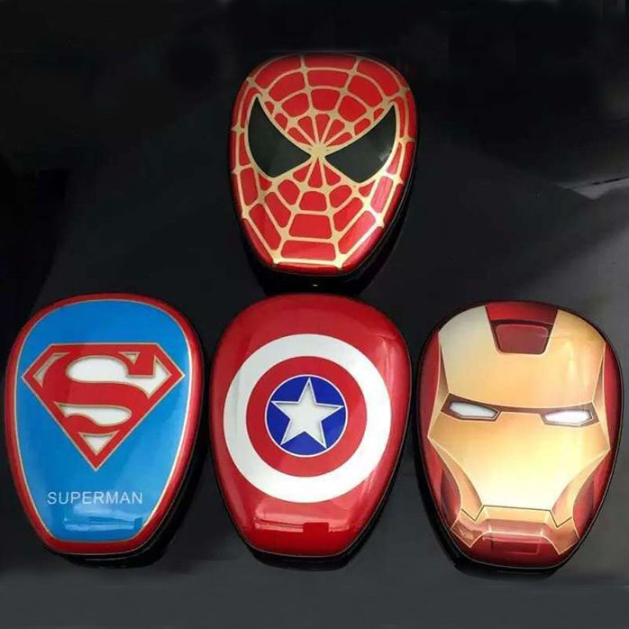 dab3eeaaee2366 Power-Bank-12000mAh-Captain-America-Superman-Iron-man-Spide-Man-Portable- Charger (5)