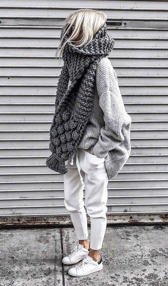 Lässiges bequemes gestricktes zweiteiliges Outfit – Design Diy