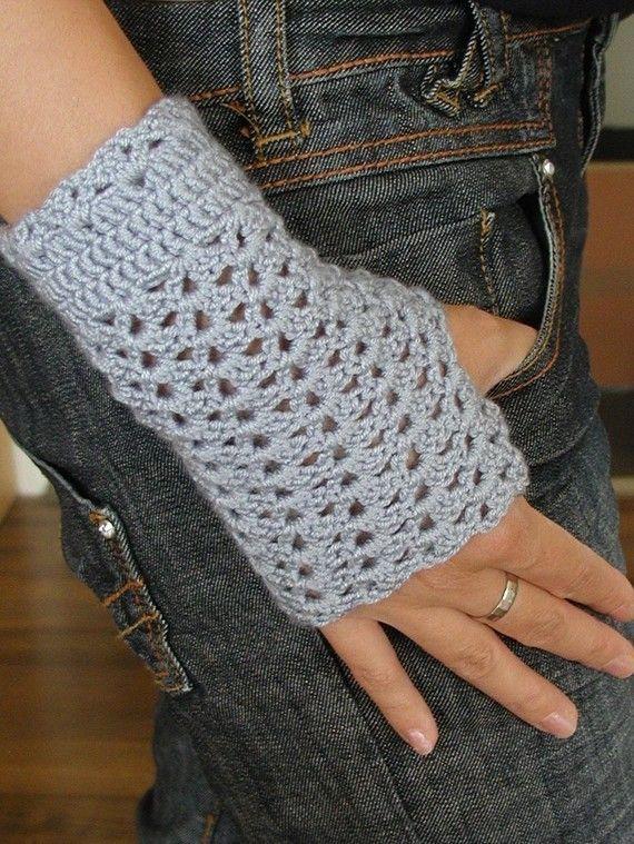 Crocheted Fingerless Mittens PDF Crochet Pattern by FrougesArt ...