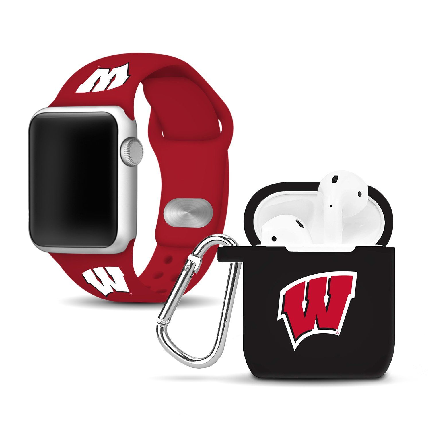 Wisconsin Badgers Apple Combo Package WATCH BAND Brand