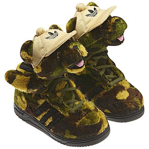 adidas Jeremy Scott Camo Bear Shoes | Shoes, Jeremy scott