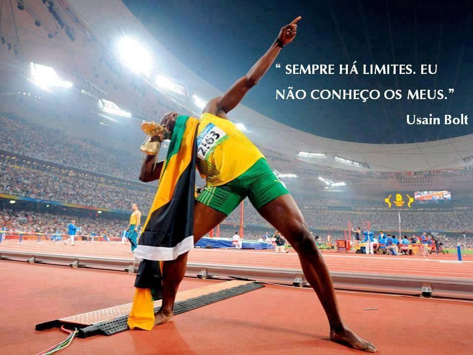 Frases De Atletas Imagem 1 Atletismo Usain Bolt Bolt Atleta