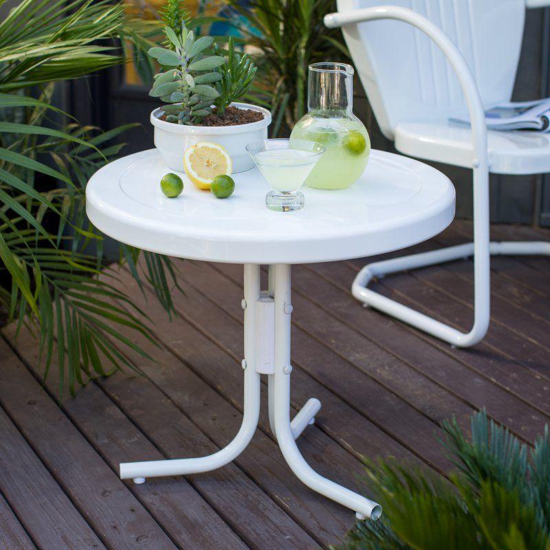 Pleasing Outdoor Coral Coast Vintage Retro Steel Side Table Download Free Architecture Designs Viewormadebymaigaardcom
