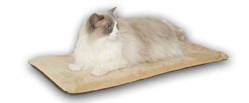 $26.68-$29.99 The Canyon Comfort heated cat mat offers an affordable and portable way to keep your dog warm and comfy. The heated mat will maintain a surface temperature of 12-to-15-degree above ambient air temperature and warm up to your pet's normal body temperature when in use. Recommended for indoor use only. The cover is removable for washing.