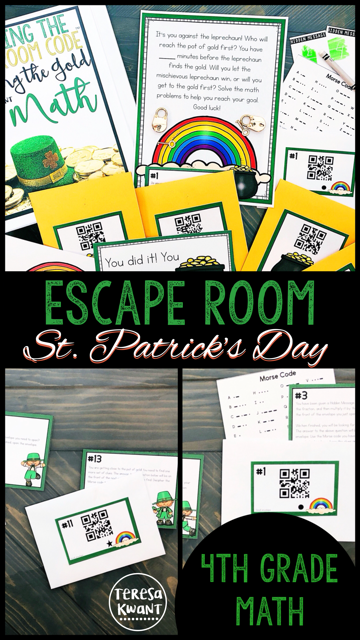 Cracking the Classroom Code™ 4th Grade St. Patrick's Day