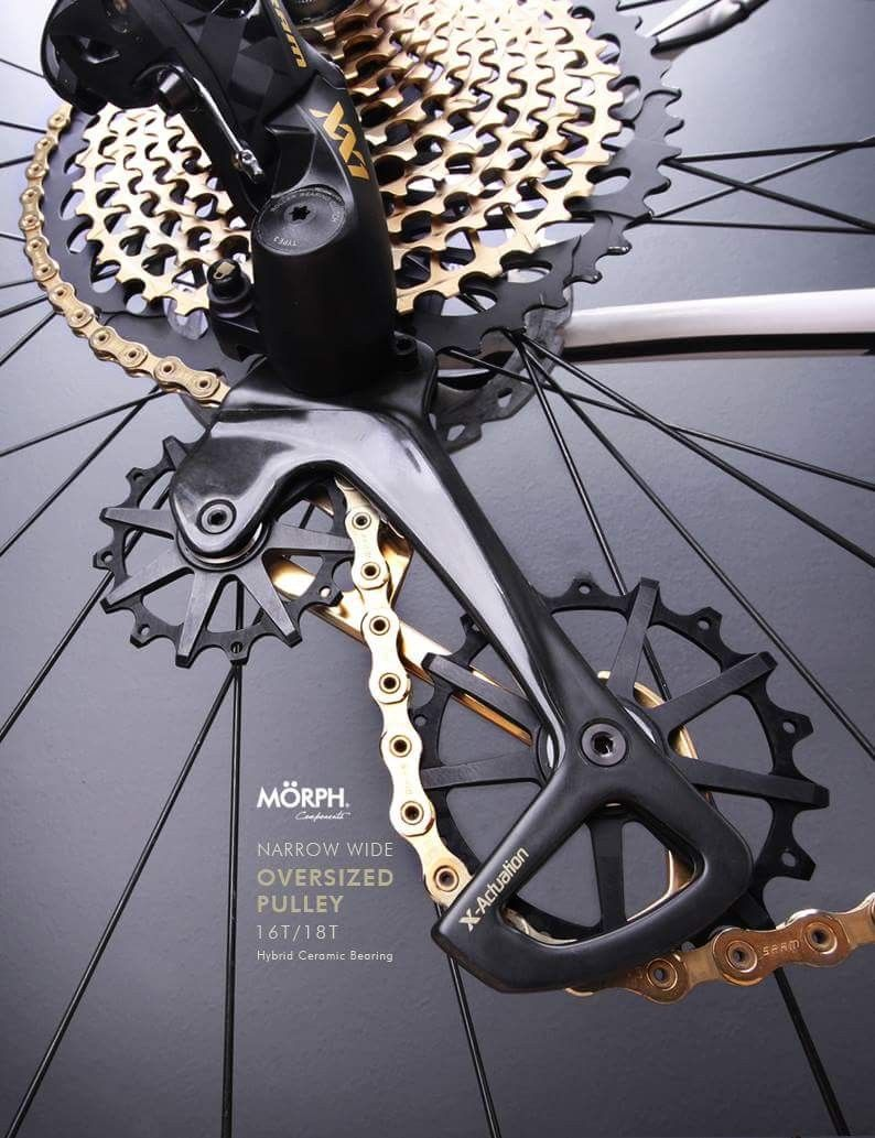 A Great Looking Black And Gold Sram Xx1 Eagle Rear Derailleur With