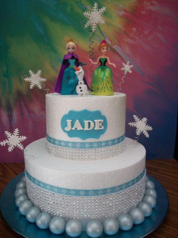Disney Frozen Cake Topper Elsa Anna and by SweetBeginningsLLC