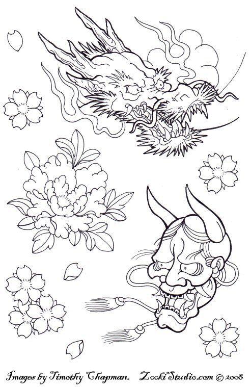 Tattoo Flash Line Drawing Converter : Flowers tattoo pinterest irezumi tattoos