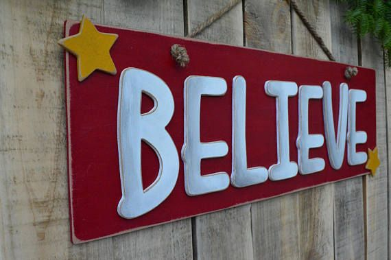 believe christmas wooden sign with decorative stars an entirely handmade wooden christmas sign is here to complete your christmas decoration