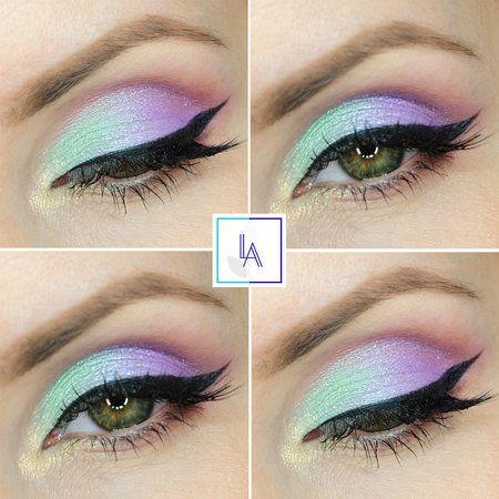 unicorn  eyeshadow eyes pastelshadow eyemakeup