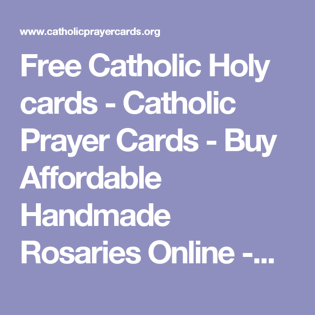 Free Catholic Holy cards - Catholic Prayer Cards - Buy Affordable