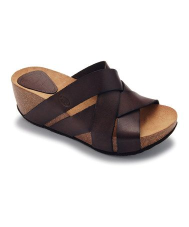 Take a look at this Mocha Erula Platform Slide by Scholl on #zulily today!