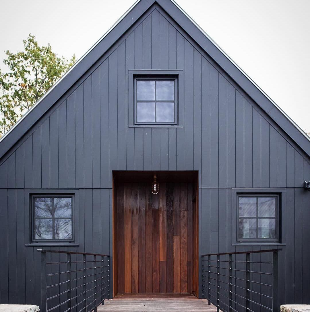 Whenever You Can Let The Outside In Love This Glass Wall And Kitchen Design From Mowerymarsharchitec Black House Exterior Architecture House Designs Exterior