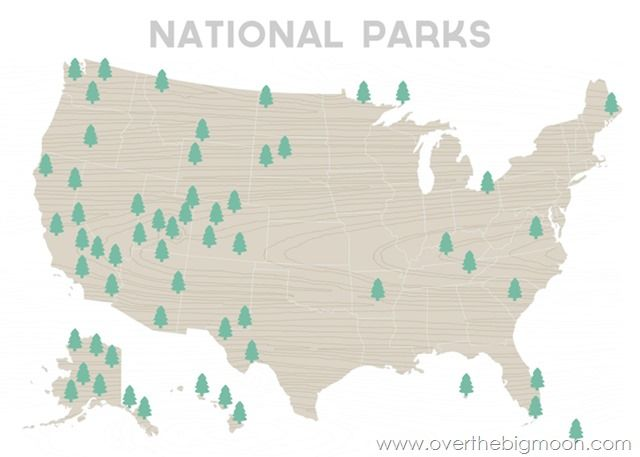 Printable Map Of Us National Parks Road Map Inspirational Wall + Free Printables | National parks map