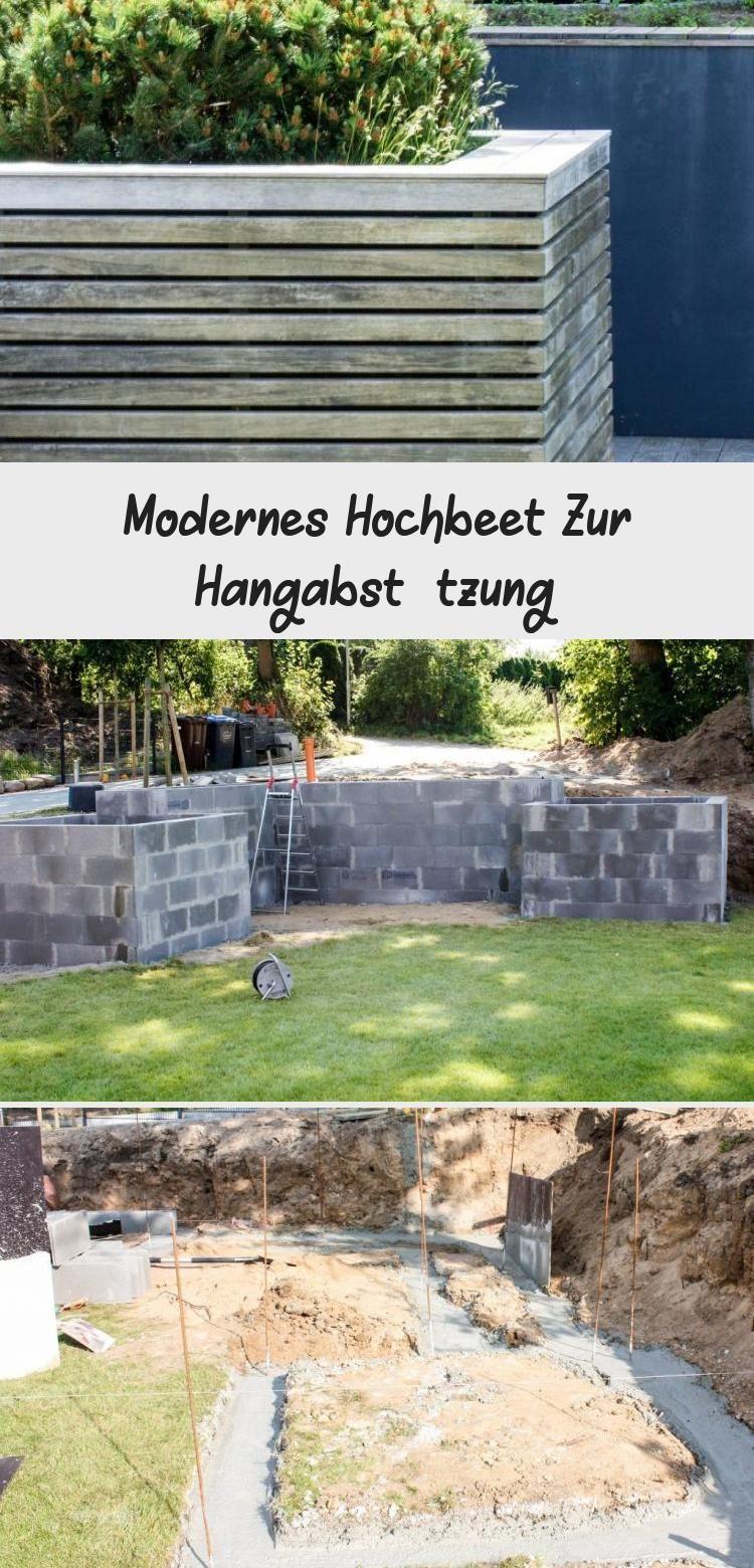 Gartenbauprojekt Modernes Hochbeet Zur Hangabsetzungung Mit Holzverkleidung Un In 2020 Bepflanzung Hochbeet Holzverkleidung