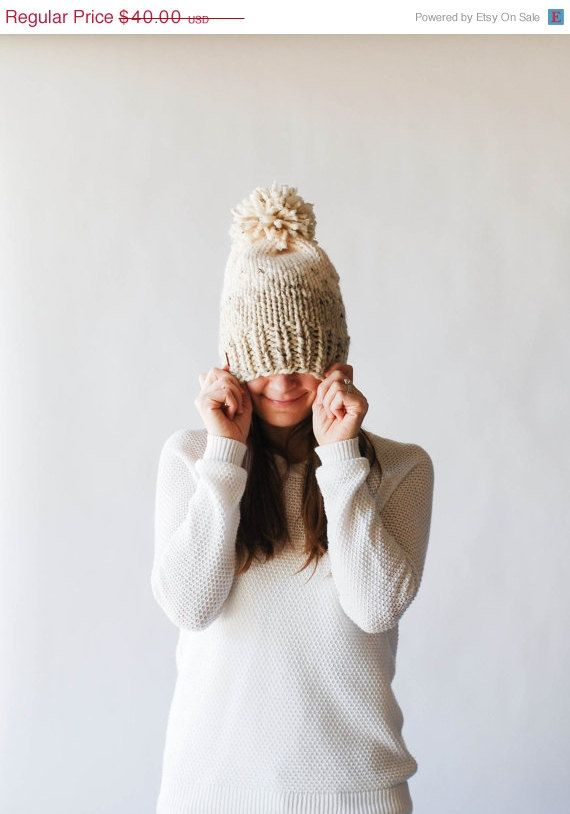 Fair Isle Ombre Knit Slouchy Hat With Pom Pom / THE by ozetta | Kids ...