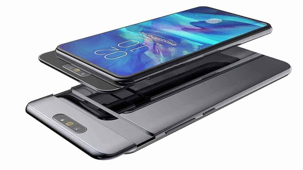 Samsung Galaxy A80 Has Super Amoled Capacitive Touchscreen 16m Colors It Has A Size Of 6 7 Inches 108 4 Cm2 85 8 Screen Samsung Samsung Galaxy Usb Radio