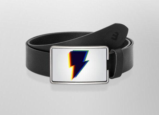 Belt Spectral flash | Wechselwild Belt with interchangeable designs #belt #buckle #flash #black