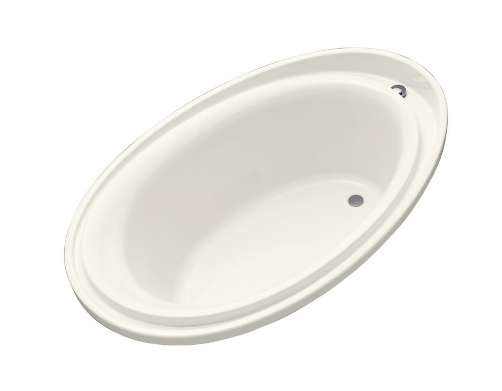 Purist 6 Feet Acrylic Drop-in Non Whirlpool Bathtub in Biscuit ...