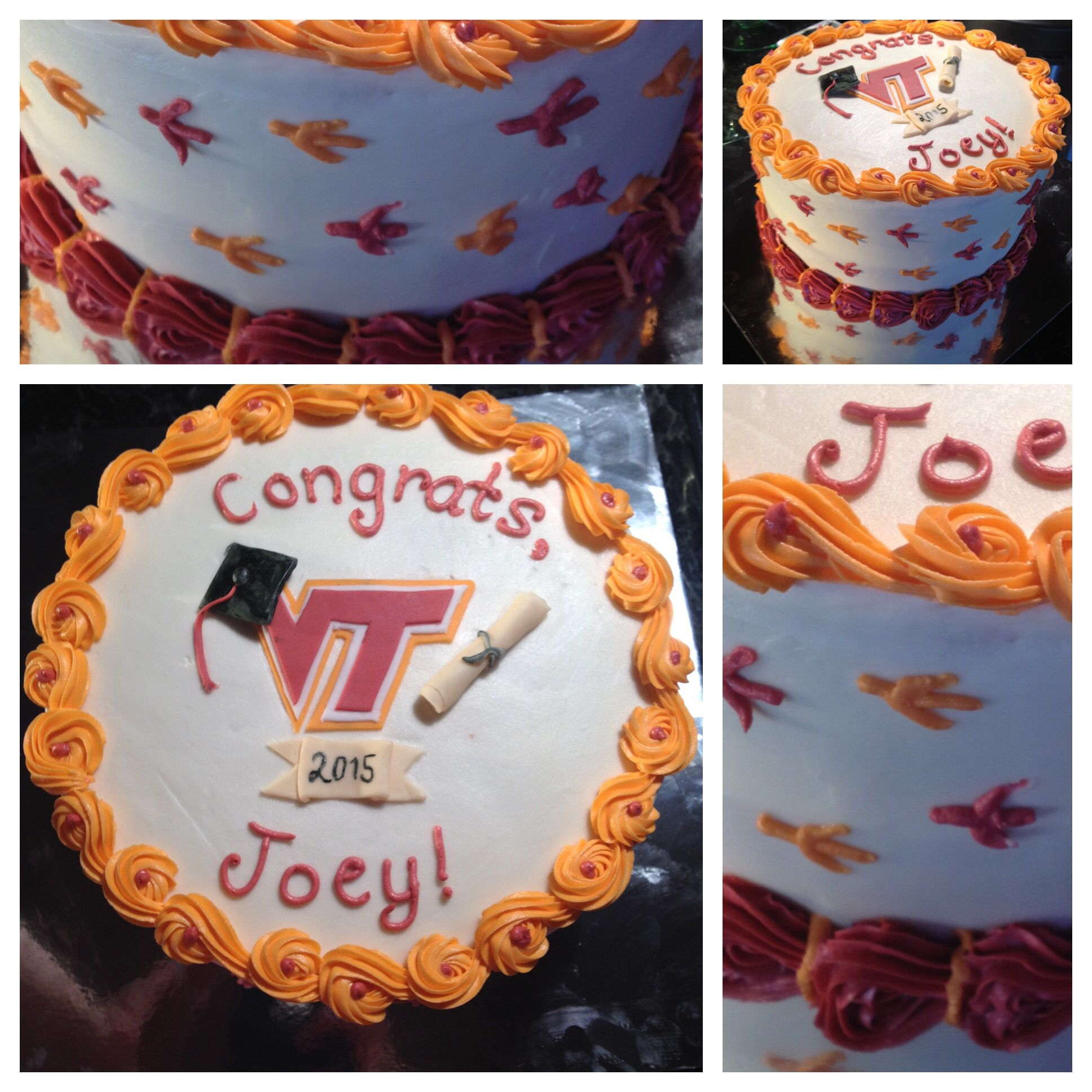 Virginia Tech Graduation Cake