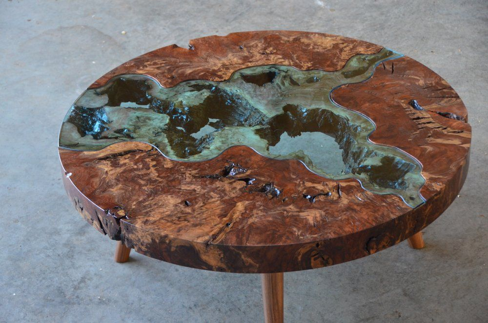 Round Confluence River Table Home Interior In 2019 Cool