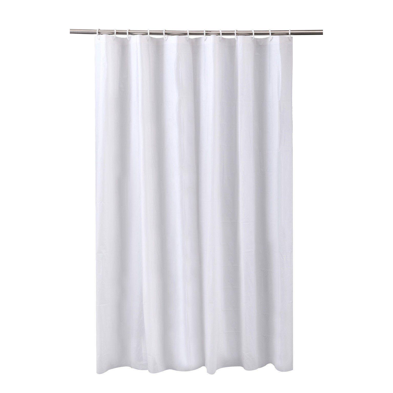 Rideau de douche en plastique blanc-blanc n°2220 l.182220.2220 x H.222202220.2220 cm