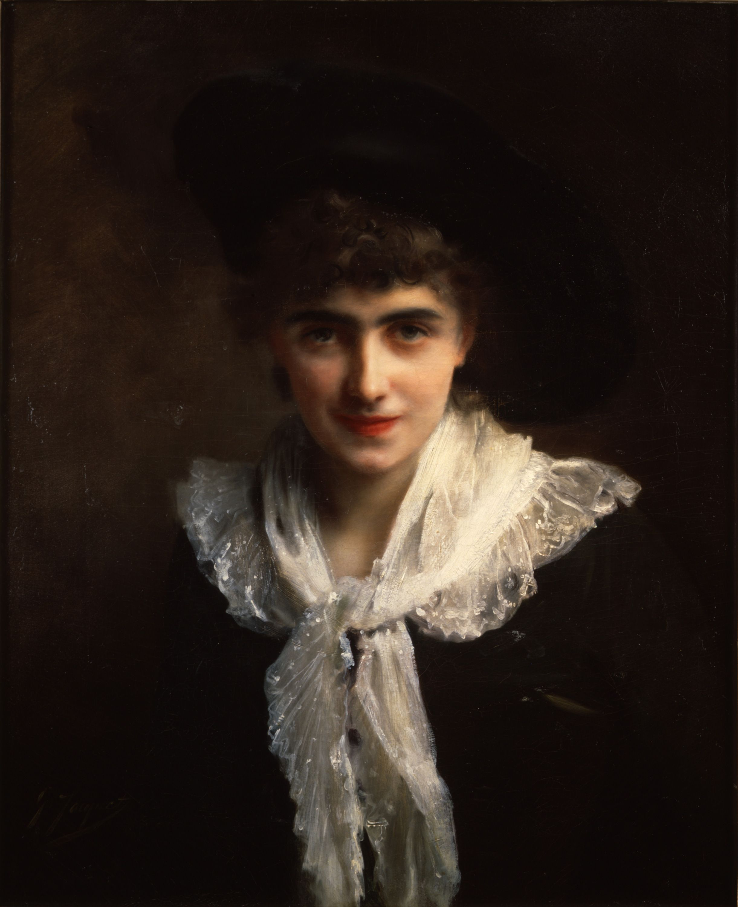 Gustave Jean Jacquet (1846-1909) Portrait of Madame Roland Oil on ...