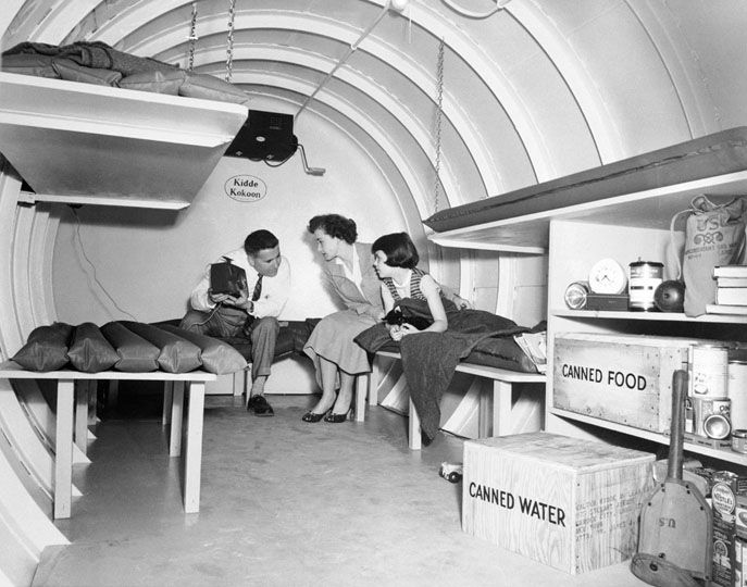 Bomb Shelter 1955 the brand name of the shelter is Kidde Kokoon