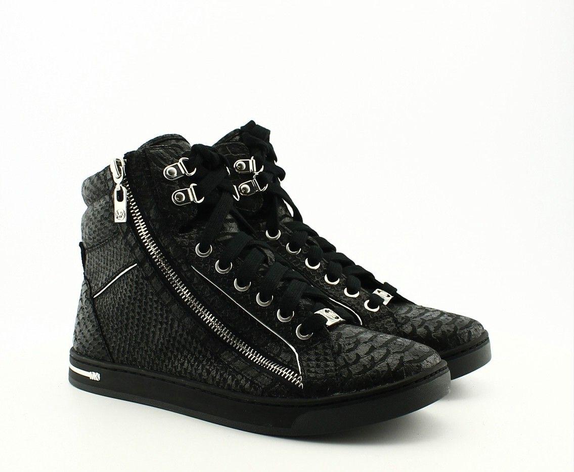 michael kors high top sneakers michael kors sneaker urban high top black sneakers dames. Black Bedroom Furniture Sets. Home Design Ideas