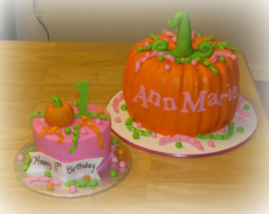 Fantastic Pumpkin Cake And Smash 1St Birthday Pumpkin 1St Birthdays Personalised Birthday Cards Beptaeletsinfo