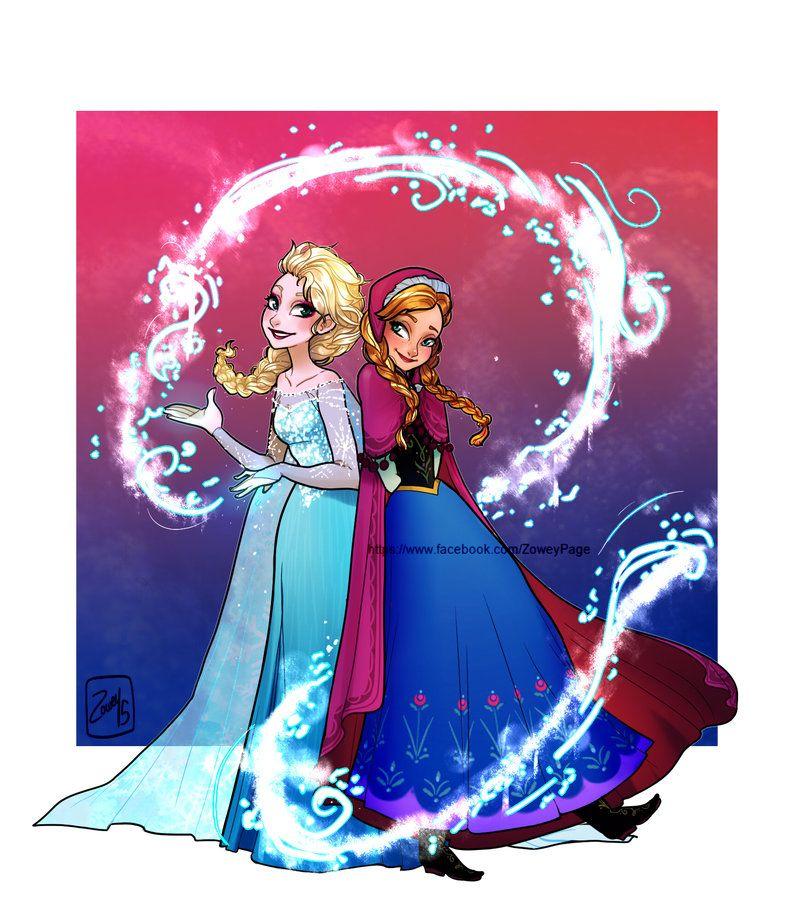 Frozen sisters by Zow3y on DeviantArt