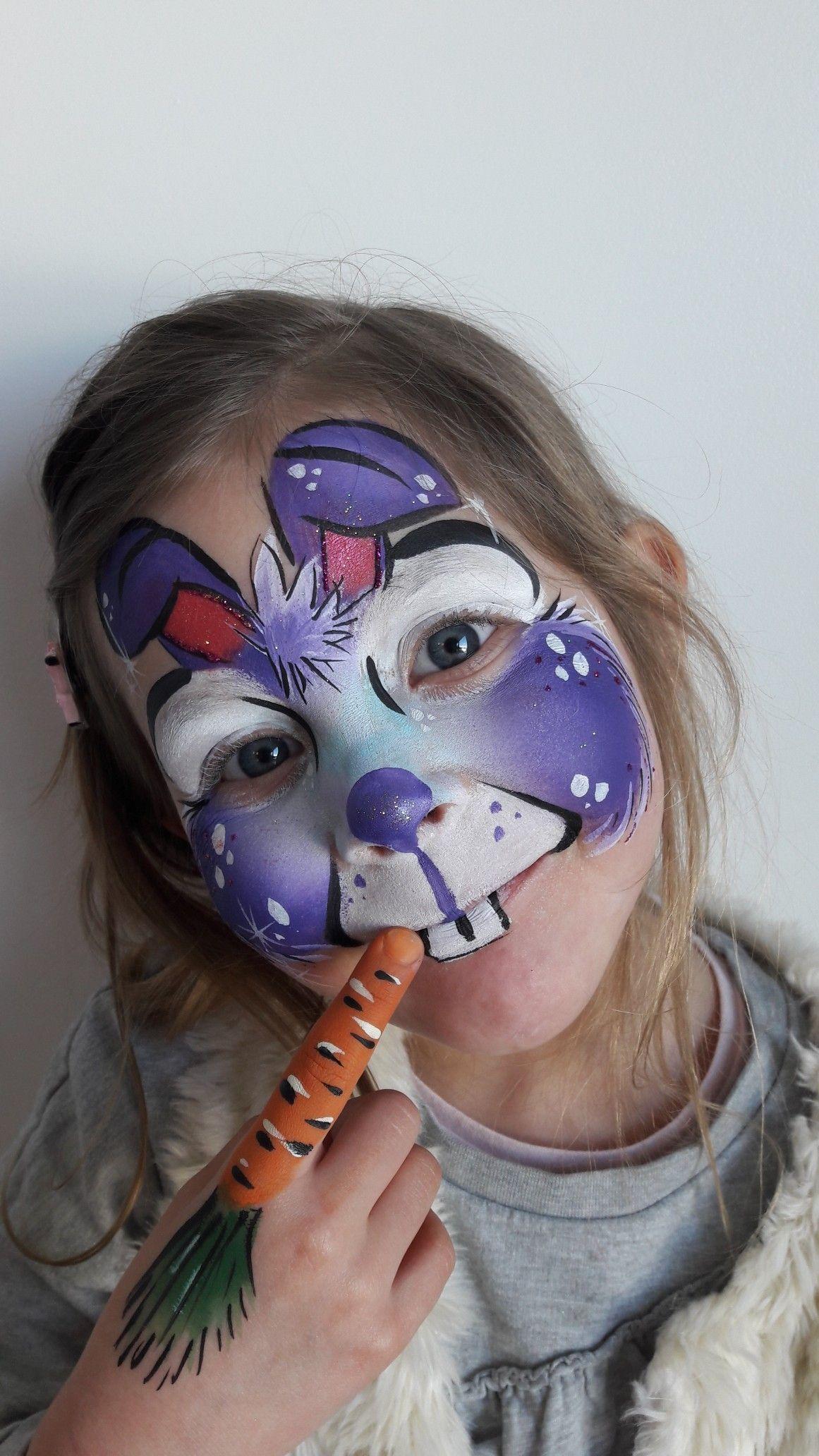 Cute bunny facepainting easter facepaintingideas face