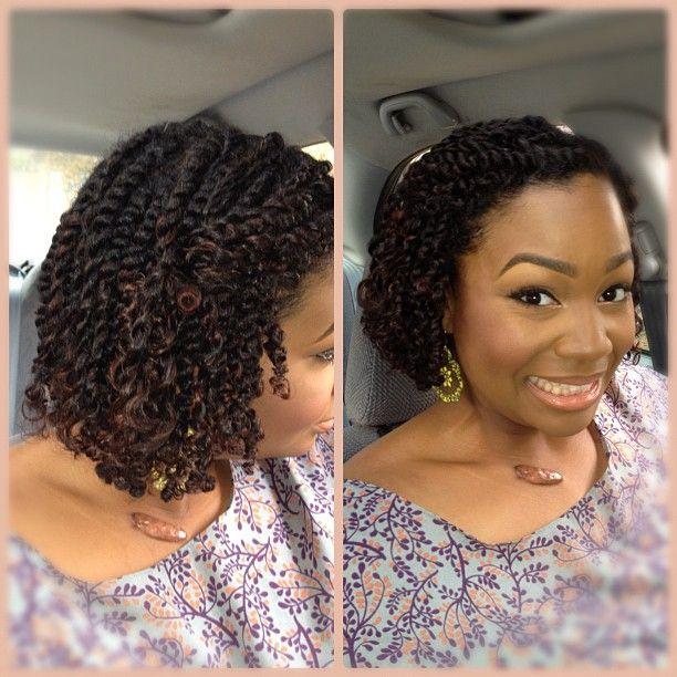 style de coiffure en twists (vanilles) avec des cheveux naturels