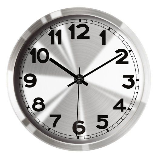 Amazon Com Hippih 12 Silent Non Ticking Wall Clock Metal Frame Glass Cover 501 A Home Kitchen Clock Wall Clock Metal Wall Clock