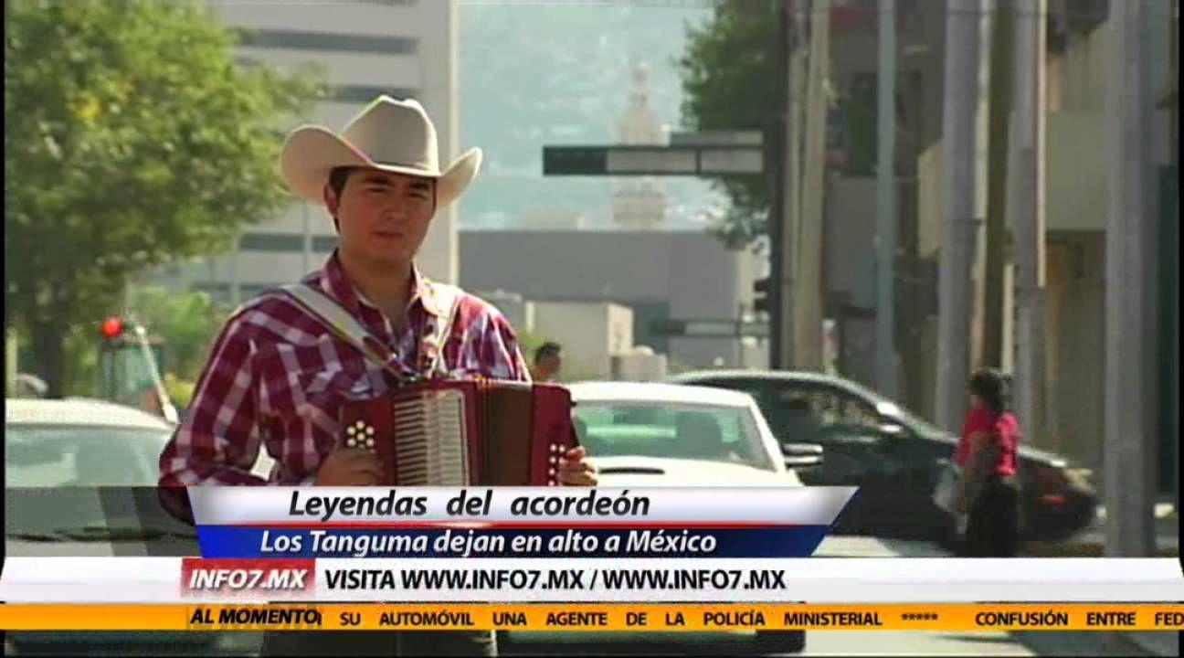 Leyendas del acordeón ponen en alto a México