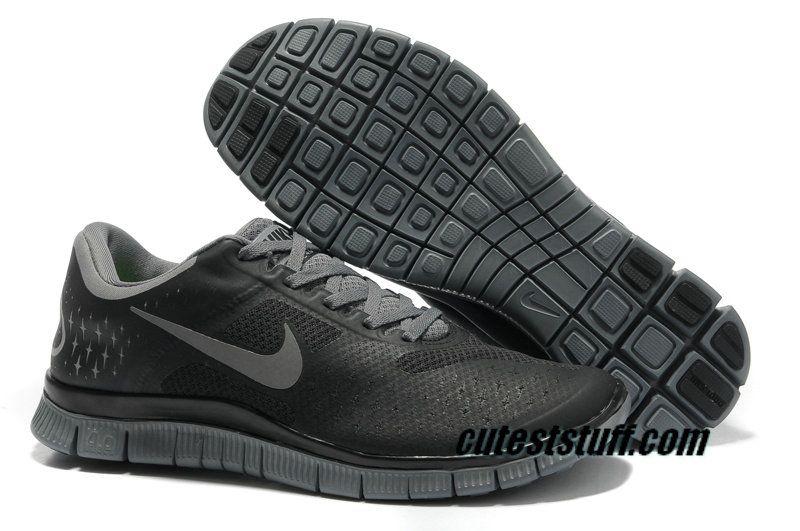 $54.29 Mens Nike Free 4.0 V2 Black Cool Grey Shoes Nike  Nike