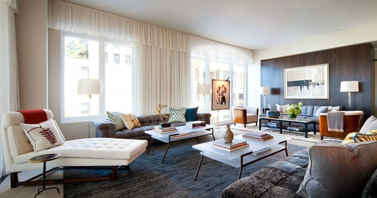 This Looks Like A Mad Men Penthouse Living Room Interior