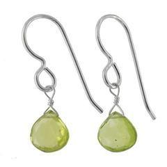Peridot Gemstones - 925 Sterling Silver - Dainty Handmade Earrings-ASHANTI Jewels