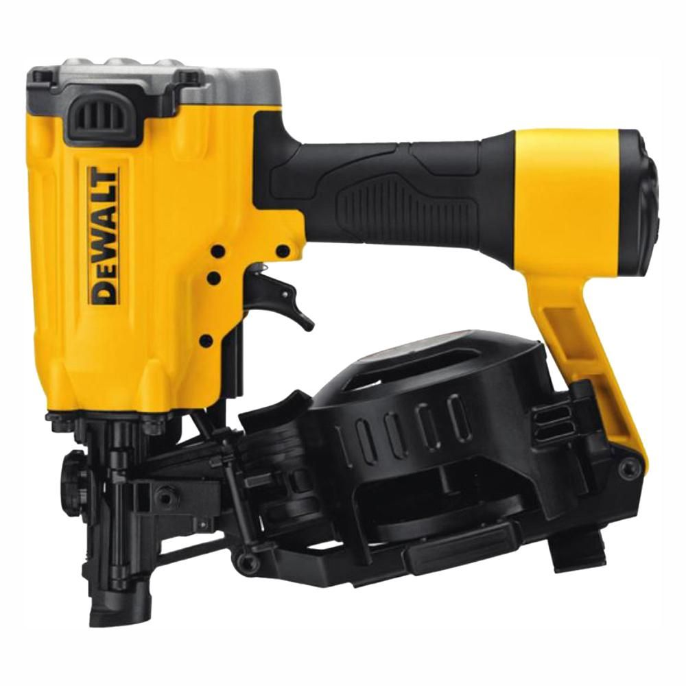Dewalt Pneumatic 15 Degree Coil Roofing Nailer Dw45rn The Home Depot In 2020 Roofing Nailer Dewalt Nailer