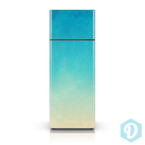 Fridge decal watercolor texture adhesive wallpaper fridge vinyl skin sticker