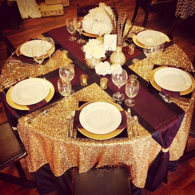 Dazzle up your fall wedding with a burgundy and gold guest for Burgundy wedding reception decorations