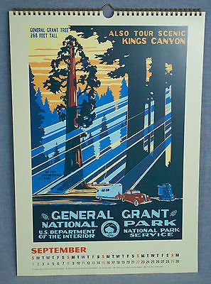WPA-US-National-Parks-GENERAL-GRANT-Vintage-Calendar-Print-1930s-Americana-Art