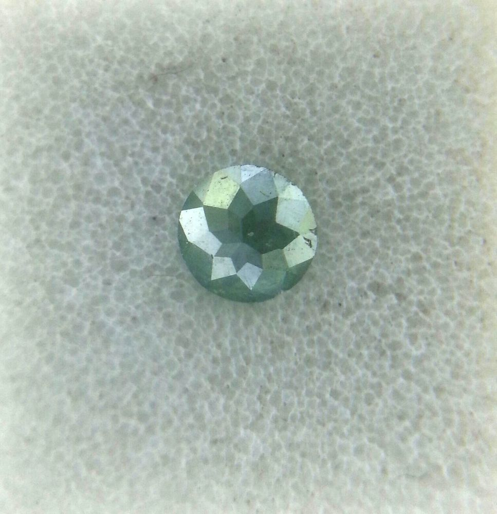 0.20TCW 3.4mm I2 Round rose cut Blue Green color Loose Natural Diamond for ring #NATURALROSECUTDIAMOND