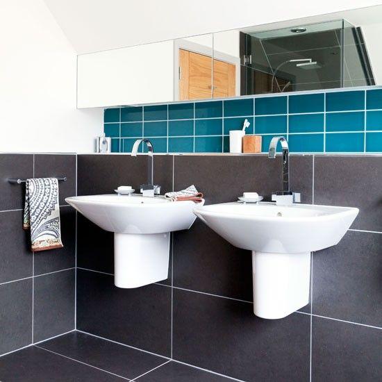 Moderne sein-und-ihr-Badezimmer Wohnideen Badezimmer Living Ideas ...